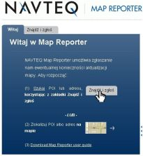 NAVTEQ Map Reporter