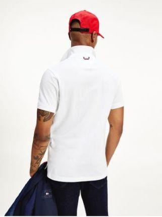 Tommy Hilfiger Polo Męskie Placket Biały M - Ceny i opinie T-shirty i koszulki męskie EIMV