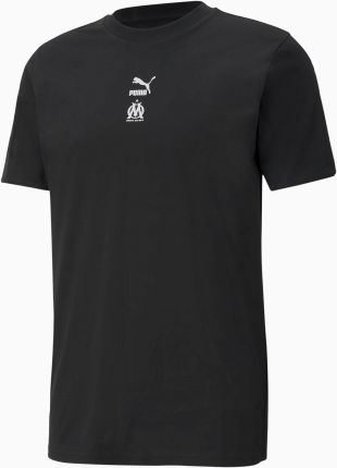 PUMA Męski T shirt Piłkarski OM TFS, Czarny, rozmiar XS, Odzież - Ceny i opinie T-shirty i koszulki męskie ZOLL