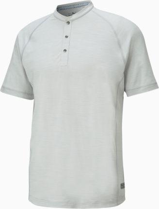 PUMA Męska Koszulka Polo EGW CLOUDSPUN Mat Henley Golf, Szary, Odzież - Ceny i opinie T-shirty i koszulki męskie PGLF