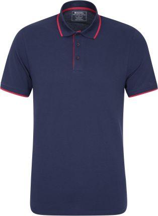 040335 LAKESIDE ORGANIC POP POLO Navy - Ceny i opinie T-shirty i koszulki męskie LLKC