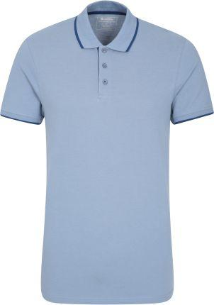 040335 LAKESIDE ORGANIC POP POLO Blue - Ceny i opinie T-shirty i koszulki męskie GCRD