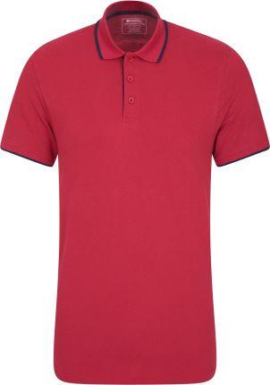 040335 LAKESIDE ORGANIC POP POLO Red - Ceny i opinie T-shirty i koszulki męskie WLRF