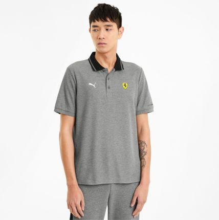 PUMA Męska Koszulka Polo Scuderia Ferrari Race, Szary Melanż, rozmiar XS, Odzież - Ceny i opinie T-shirty i koszulki męskie ZFEL