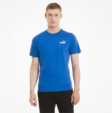 PUMA Męski T shirt Essentials Z Małym Logo, Royal, rozmiar XS, Odzież - Ceny i opinie T-shirty i koszulki męskie OTFD