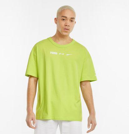 PUMA Męski T shirt Statement O Pudełkowym Kroju, ŻÓłty, rozmiar XXS, Odzież - Ceny i opinie T-shirty i koszulki męskie TNSP