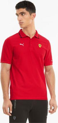 PUMA Męska Koszulka Polo Scuderia Ferrari Race, Czerwony, rozmiar XS, Odzież - Ceny i opinie T-shirty i koszulki męskie LKXG