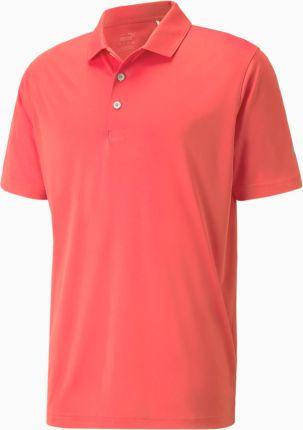 PUMA Meska Golfowa Koszulka Polo Rotation, Brzoskwiniowy, Odzież - Ceny i opinie T-shirty i koszulki męskie PECB