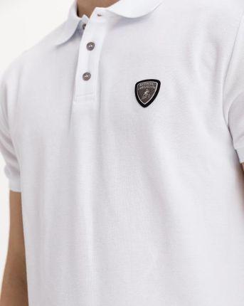 Lamborghini Polo Koszulka Biały - Ceny i opinie T-shirty i koszulki męskie MEXJ