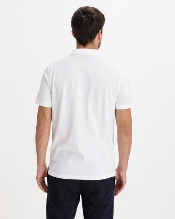 Gant Polo Koszulka Biały - Ceny i opinie T-shirty i koszulki męskie BDNL