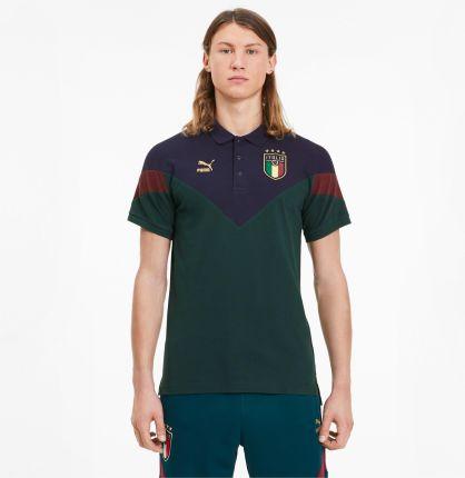 PUMA Męska Koszulka Polo Italia Iconic MCS Zielony, rozmiar XS, Odzież - Ceny i opinie T-shirty i koszulki męskie VKYL