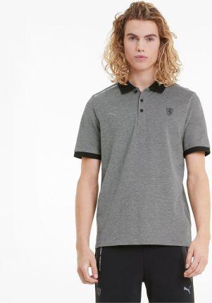 PUMA Męska Dwukolorowa Koszulka Polo Scuderia Ferrari Style, Czarny, rozmiar XS, Odzież - Ceny i opinie T-shirty i koszulki męskie MOFF
