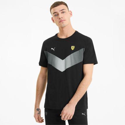 PUMA Męski T shirt Scuderia Ferrari MCS, Czarny, rozmiar XS, Odzież - Ceny i opinie T-shirty i koszulki męskie XCVM