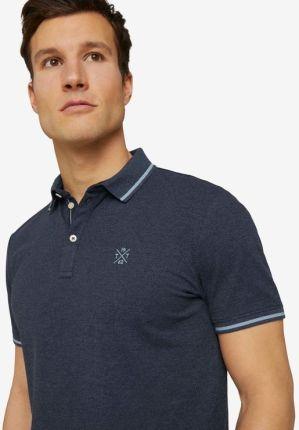 Tom Tailor Polo Koszulka Niebieski - Ceny i opinie T-shirty i koszulki męskie ZTGY