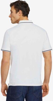 Tom Tailor Polo Koszulka Biały - Ceny i opinie T-shirty i koszulki męskie PUST