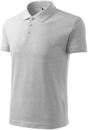 Koszulka polo męska jasnoszary melanż 2XL pod haft - Ceny i opinie T-shirty i koszulki męskie BGTV