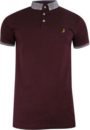Bordowa Męska Koszulka Polo Brave Soul s - Ceny i opinie T-shirty i koszulki męskie VJDV