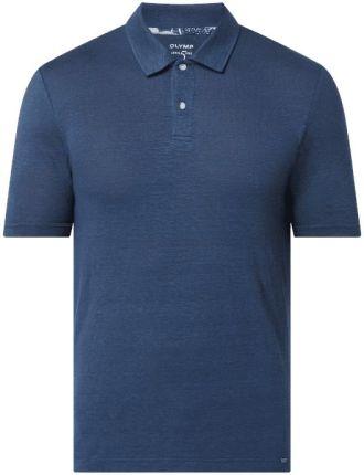 Koszulka polo o kroju body fit z mieszanki lnu i elastanu - Ceny i opinie T-shirty i koszulki męskie DVZS