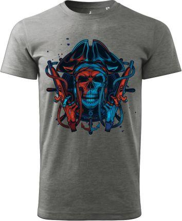 Voyovnik Koszulka T-Shirt Pirate Szara (V-2102-23-12) - Ceny i opinie T-shirty i koszulki męskie BBWL
