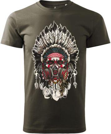 Voyovnik Koszulka T-Shirt Indian Chief Khaki (V-2102-17-67) - Ceny i opinie T-shirty i koszulki męskie MSFT