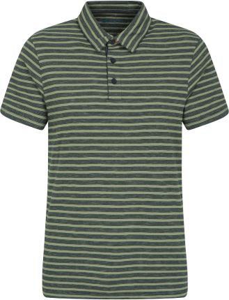 038491 BRETON STRIPE POLO Green - Ceny i opinie T-shirty i koszulki męskie NSOV