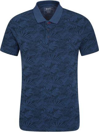 038486 HYDE ORGANIC PRINTED SLIM FIT POLO Navy - Ceny i opinie T-shirty i koszulki męskie JBIB