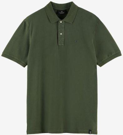 Scotch & Soda Polo Koszulka Zielony - Ceny i opinie T-shirty i koszulki męskie YMVT