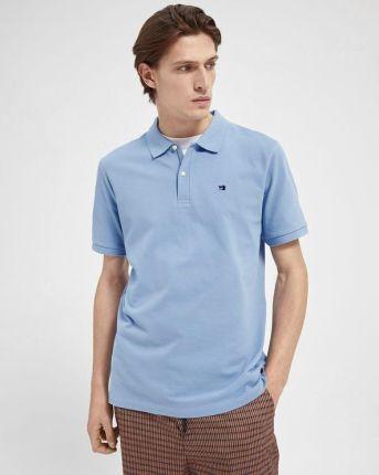 Scotch & Soda Polo Koszulka Niebieski - Ceny i opinie T-shirty i koszulki męskie QIWC