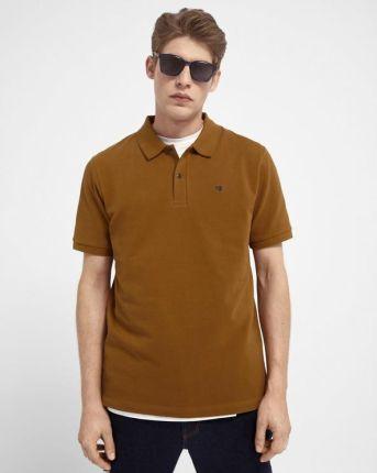 Scotch & Soda Polo Koszulka Brązowy - Ceny i opinie T-shirty i koszulki męskie QHQO