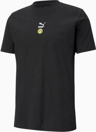 PUMA Męski T shirt Piłkarski TFS BVB, Czarny, rozmiar XS, Odzież - Ceny i opinie T-shirty i koszulki męskie TTZN