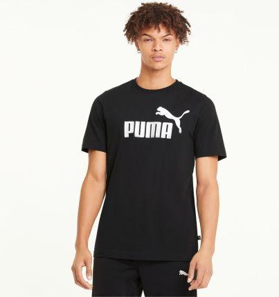 PUMA Męski T shirt Essentials Z Logo, Czarny, rozmiar XS, Odzież - Ceny i opinie T-shirty i koszulki męskie TPGK