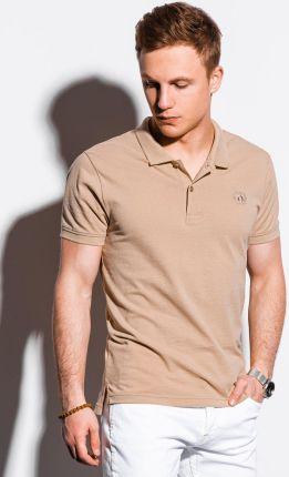 Koszulka męska polo klasyczna bawełniana S1374 beżowa S - Ceny i opinie T-shirty i koszulki męskie PQYL