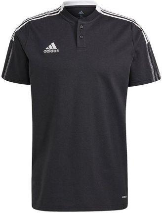 Koszulka piłkarska męska Tiro 21 Polo adidas (czarna) - Ceny i opinie T-shirty i koszulki męskie VXXY
