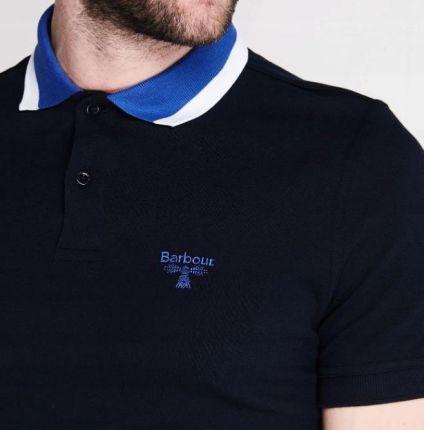 Barbour Granatowa Koszulka Polo__l - Ceny i opinie T-shirty i koszulki męskie JCLU