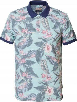 Koszulka Petrol polÓwka męska w kwiaty r. XL - Ceny i opinie T-shirty i koszulki męskie PMHY