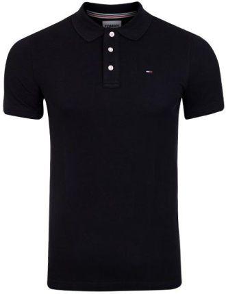 TOMMY HILFIGER MĘSKA KOSZULKA POLO TJM ORIGINAL FINE PIQUE POLO S S BLACK DM0DM04266 078 - Ceny i opinie T-shirty i koszulki męskie UIVZ