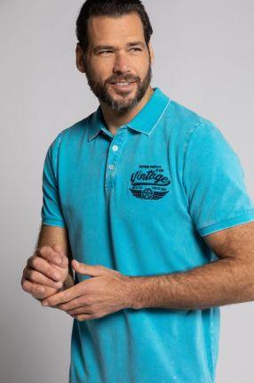 Duże rozmiary Koszulka polo z krÓtkim rękawem, mężczyzna, turkusowy, rozmiar 5XL, bawełna, JP1880 - Ceny i opinie T-shirty i koszulki męskie BRLS
