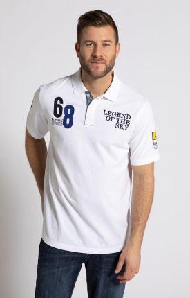 Duże rozmiary Koszulka polo z naszywkami i krÓtkim rękawem, mężczyzna, szaro, rozmiar 5XL, bawełna, JP1880 - Ceny i opinie T-shirty i koszulki męskie AXRC