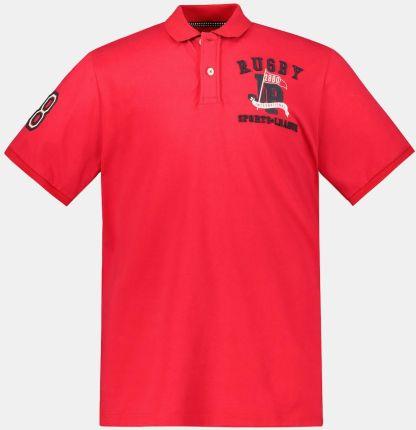 Duże rozmiary Koszulka polo, mężczyzna, czerwony, rozmiar 5XL, bawełna, JP1880 - Ceny i opinie T-shirty i koszulki męskie RTCK