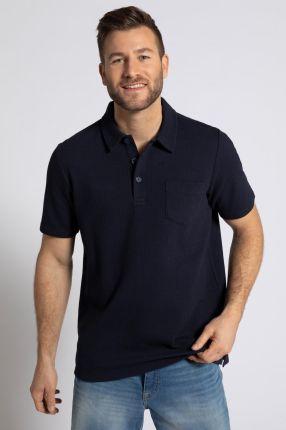 Duże rozmiary Koszulka polo z kory, mężczyzna, niebieski, rozmiar L, bawełna poliester, JP1880 - Ceny i opinie T-shirty i koszulki męskie KKRP