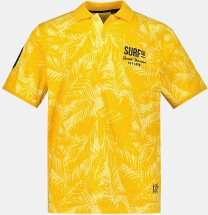 Duże rozmiary Koszulka polo z krÓtkim rękawem, mężczyzna, żÓłty, rozmiar 3XL, bawełna, JP1880 - Ceny i opinie T-shirty i koszulki męskie RHEZ