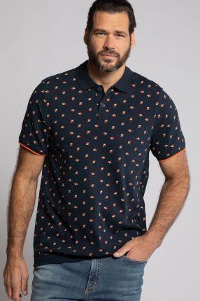 Duże rozmiary Koszulka polo na duży brzuch, mężczyzna, niebieski, rozmiar 4XL, bawełna, JP1880 - Ceny i opinie T-shirty i koszulki męskie IBCQ