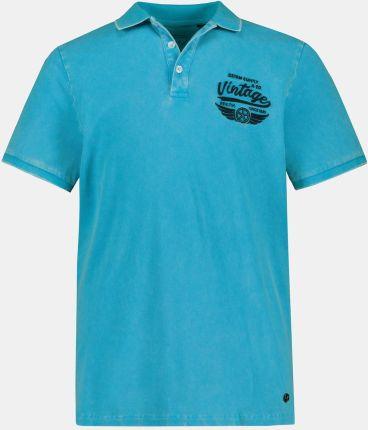 Duże rozmiary Koszulka polo z krÓtkim rękawem, mężczyzna, turkusowy, rozmiar XL, bawełna, JP1880 - Ceny i opinie T-shirty i koszulki męskie FEBH