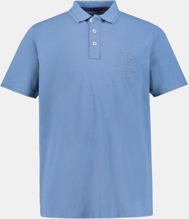 Duże rozmiary Koszulka polo, mężczyzna, niebieski, rozmiar 4XL, bawełna, JP1880 - Ceny i opinie T-shirty i koszulki męskie FEWR