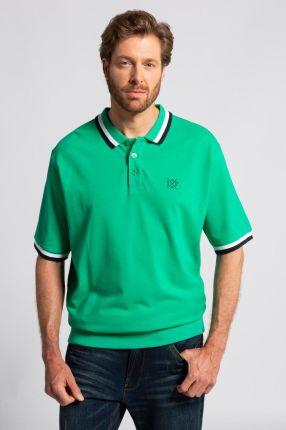Duże rozmiary Koszulka polo na duży brzuch, mężczyzna, zielony, rozmiar 3XL, bawełna, JP1880 - Ceny i opinie T-shirty i koszulki męskie OVZS