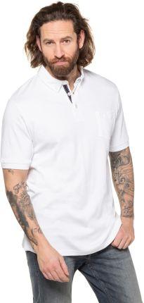 Duże rozmiary Koszulka polo z organicznej bawełny, mężczyzna, biały, rozmiar 5XL, bawełna, JP1880 - Ceny i opinie T-shirty i koszulki męskie ZDCN