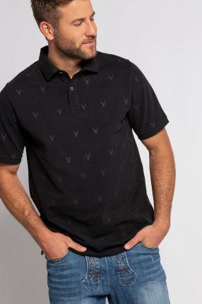 Duże rozmiary Koszulka polo, mężczyzna, szaro, rozmiar 3XL, bawełna, JP1880 - Ceny i opinie T-shirty i koszulki męskie LPOP