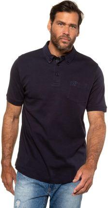 Duże rozmiary Koszulka polo z organicznej bawełny, mężczyzna, niebieski, rozmiar 8XL, bawełna, JP1880 - Ceny i opinie T-shirty i koszulki męskie ENHF