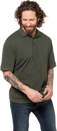 Duże rozmiary Koszulka polo na duży brzuch, mężczyzna, zielony, rozmiar 8XL, bawełna, JP1880 - Ceny i opinie T-shirty i koszulki męskie ILZS