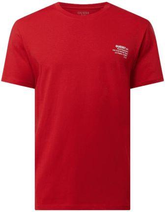 Guess T-Shirt Z O Kroju Regular Fit Z Logo - Ceny i opinie T-shirty i koszulki męskie RFZX